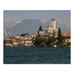 Lakeside town, Malcesine, Verona Province, Italy Poster