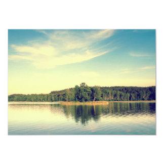 Lakeside Vintage Tree Line 13 Cm X 18 Cm Invitation Card