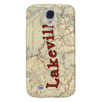 Lakeville Massachusetts Old Map Samsung Galaxy S4 Cases