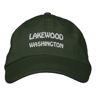 LAKEWOOD, WASHINGTON EMBROIDERED BASEBALL CAPS