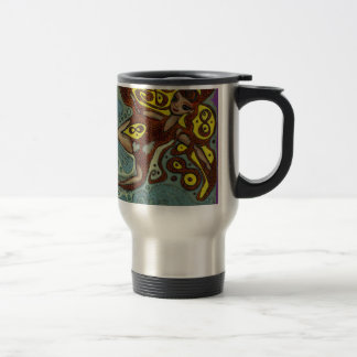 lakshimi in copper on the beach travel mug