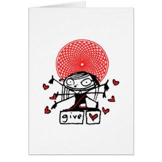 lakshmi cutie give love valentine card