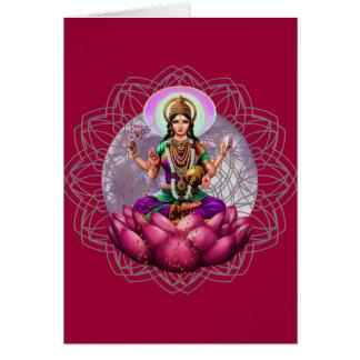 Lakshmi Fortune Mandala Card