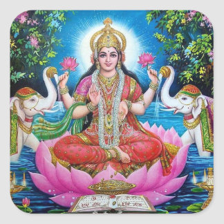 Lakshmi Goddess Large Square Sticker