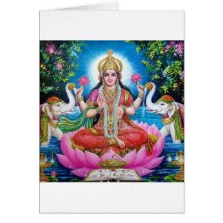 Lakshmi Goddess of Love, Prosperity, and Wealth Card