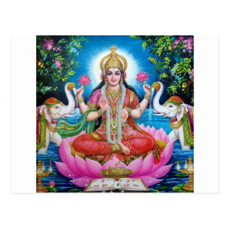 Lakshmi Goddess of Love, Prosperity, and Wealth Postcard