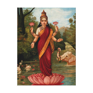 Lakshmi Goddess of Wealth Fortune and Prosperity Canvas Print