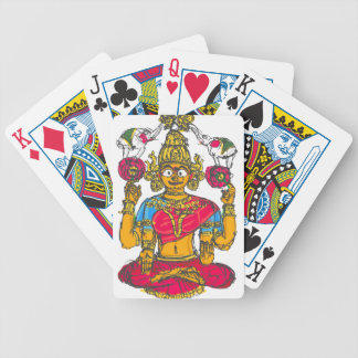 Lakshmi / Shridebi in Meditation Pose Bicycle Playing Cards
