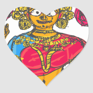 Lakshmi / Shridebi in Meditation Pose Heart Sticker
