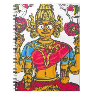 Lakshmi / Shridebi in Meditation Pose Notebooks