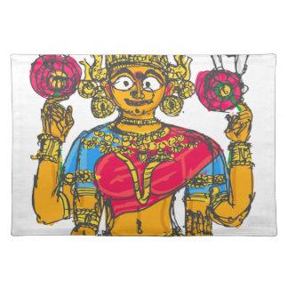 Lakshmi / Shridebi in Meditation Pose Placemat
