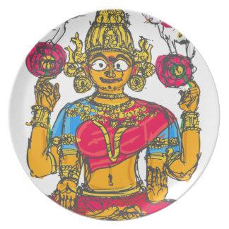 Lakshmi / Shridebi in Meditation Pose Plate