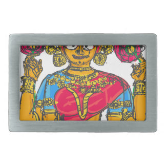 Lakshmi / Shridebi in Meditation Pose Rectangular Belt Buckle