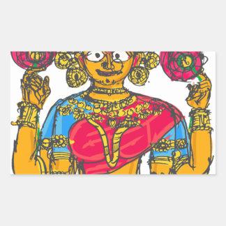 Lakshmi / Shridebi in Meditation Pose Rectangular Sticker