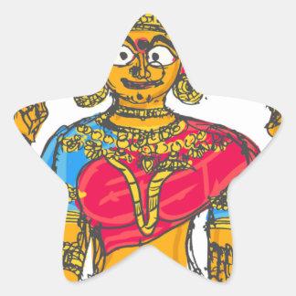 Lakshmi / Shridebi in Meditation Pose Star Sticker