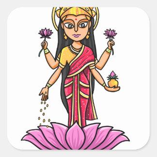 Lakshmi Square Sticker