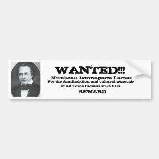 Lamar Wanted Poster Bumper Sticker
