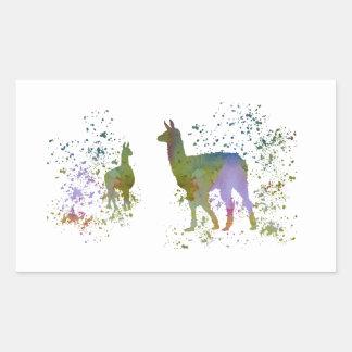 Lamas Rectangular Sticker