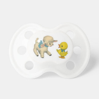 Lamb and Duck Baby Pacifier