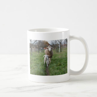 Lamb and sheep coffee mug