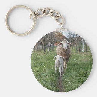 Lamb and sheep key ring