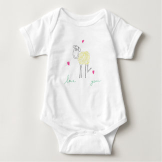 Lamb Baby Jersey Bodysuit