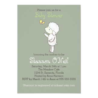 Lamb Baby Shower Invitation Cute Lamb Christian