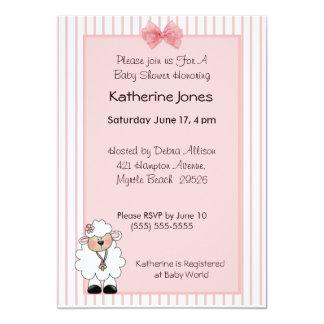 Lamb Baby Shower Invitations