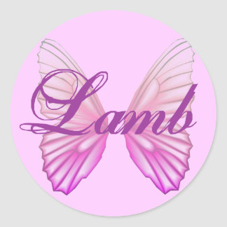 Lamb/Butterfly Stickers