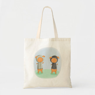 Lamb Carrot Budget Tote Bag