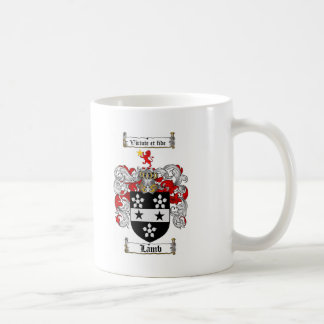 LAMB FAMILY CREST -  LAMB COAT OF ARMS COFFEE MUG