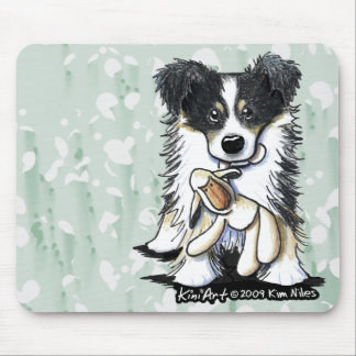 Lamb Lover Border Collie Mousepad