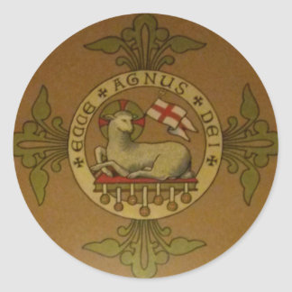 Lamb of God Ecce Agnus Dei Classic Round Sticker
