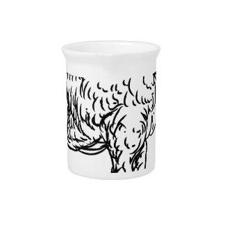Lamb Sheep Food Grunge Style Hand Drawn Icon Pitcher