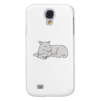 Lamb Sleeping Drawing Galaxy S4 Cover