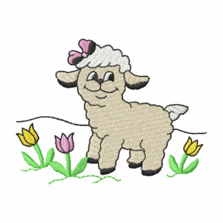 Lamb with Flowers Embroidered Jacket