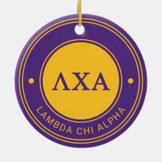 Lambda Chi Alpha | Badge Round Ceramic Decoration