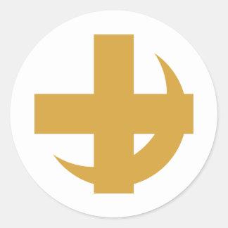 Lambda Chi Alpha Cross & Crescent Classic Round Sticker