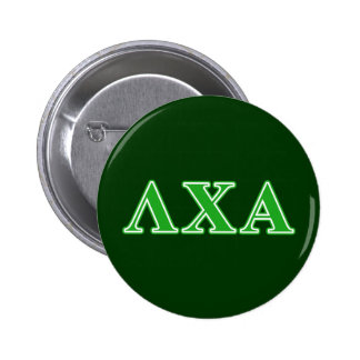 Lambda Chi Alpha Green Letters 6 Cm Round Badge
