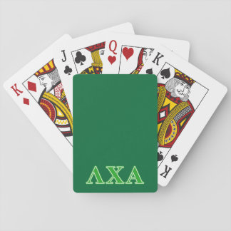 Lambda Chi Alpha Green Letters Playing Cards