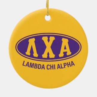 Lambda Chi Alpha | Vintage Ceramic Ornament