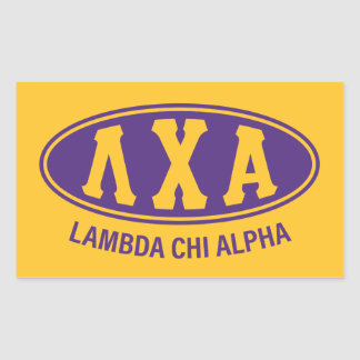 Lambda Chi Alpha | Vintage Rectangular Sticker