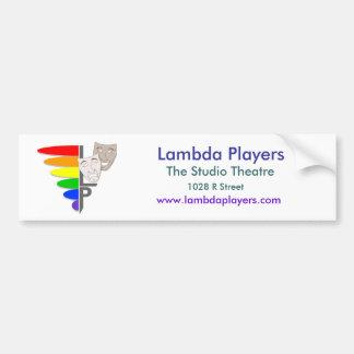 Lambda Players Bumper Sticket Bumper Sticker