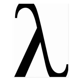 lambda Symbol Postcard