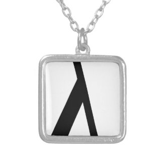 lambda Symbol Silver Plated Necklace