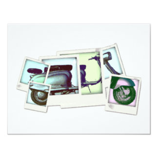 lambretta photo montage 11 cm x 14 cm invitation card