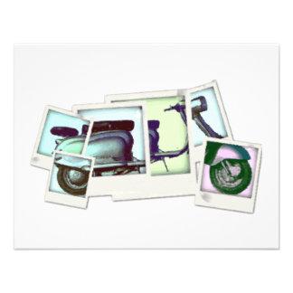 lambretta photo montage invitations