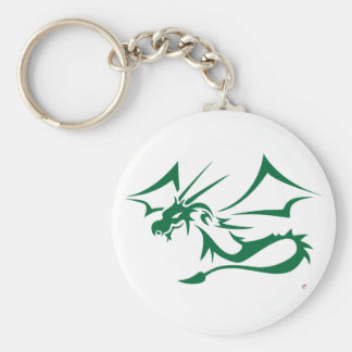 Lambton the Green Dragon Basic Round Button Key Ring