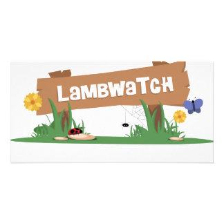 LambWatch Logo! Personalized Photo Card