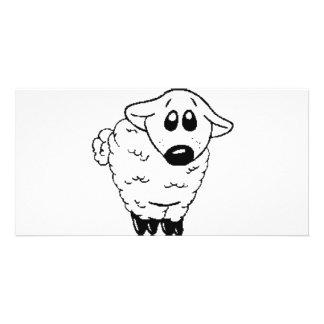 lamby customized photo card